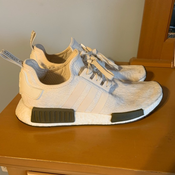 b558e4aff37dd adidas Other - Adidas Nmd R1 Chalk White Trace Olive Size 11